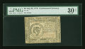 Colonial Notes:Continental Congress Issues, Continental Currency July 22, 1776 $8 PMG Net Very Fine 30....