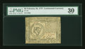 Colonial Notes:Continental Congress Issues, Continental Currency February 26, 1777 $8 PMG Very Fine 30....