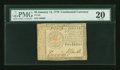 Colonial Notes:Continental Congress Issues, Continental Currency January 14, 1779 $5 PMG Very Fine 20....