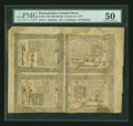 Colonial Notes:Pennsylvania, Pennsylvania October 25, 1775 1s, 18d, 10s and 5s Block of Four PMGAbout Uncirculated 50....