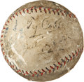 Baseball Collectibles:Balls, Ty Cobb Multi Signed Baseball....