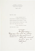 Autographs:U.S. Presidents, Harry S Truman: Scarce 1955 Typed Letter Signed with Eighteen WordPostscript in His Hand.... (Total: 2 Items)