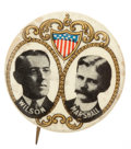 Political:Pinback Buttons (1896-present), Wilson & Marshall: Celluloid Jugate Pinback Campaign Button....