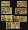 Fractional Currency:First Issue, Parade of Fractional Types. Very Good or better.... (Total: 7notes)