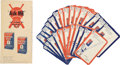 Baseball Collectibles:Others, 1934 Quaker Oats Trivia Cards Set of 26 and Instructions Sheet....