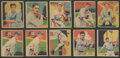 Autographs:Baseballs, 1934-36 R327 Diamond Stars Collection (15) With HoFers! ...