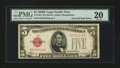 Error Notes:Inverted Reverses, Fr. 1527 $5 1928B Legal Tender Note. PMG Very Fine 20.. ...