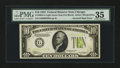 Error Notes:Inverted Reverses, Fr. 2004-G $10 1934 Light Green Seal Federal Reserve Note. PMGChoice Very Fine 35.. ...