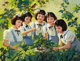 ANDREW LOOMIS (American, 1892-1959) The Dionne Quintuplets, Brown and Bigelow calendar illustration, c. 1944 Oil on c