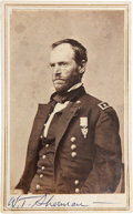 Autographs:Military Figures, William Tecumseh Sherman: Signed Carte de Visite....