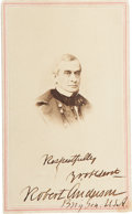Autographs:Military Figures, Robert Anderson: Double-Signed Carte de Visite. ...