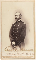 Autographs:Military Figures, George Meade: Signed Carte de Visite. ...