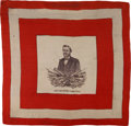 Political:Textile Display (pre-1896), Ulysses S. Grant: Stunning Huge Silk Scarf with His Portrait....