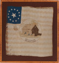 Political:Textile Display (pre-1896), William Henry Harrison: Rare Variety of 1840 Silk Campaign Flag Banner. ...