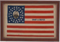 Political:Textile Display (pre-1896), Ulysses S. Grant: Magnificent Silk 1868 Campaign Flag Banner....