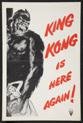 """Movie Posters:Horror, King Kong (RKO, R-1956). Pressbook (Multiple Pages, 12"""" X 18""""). Horror.. ..."""