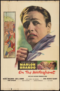 "On the Waterfront (Columbia, 1954). One Sheet (27"" X 41""). Drama"