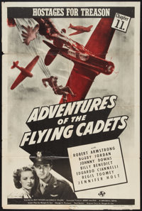 """Adventures of the Flying Cadets (Universal, 1943). One Sheet (27"""" X 41"""") Chapter 11 -- """"Hostages For Trea..."""