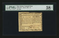 Colonial Notes:New Jersey, New Jersey June 9, 1780 $1 PMG Choice About Unc 58 EPQ....
