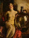 Paintings, HOWARD CHANDLER CHRISTY (American, 1872-1952). Nude with Jug. Oil on canvas. 42 x 32 in.. Signed lower right. ...