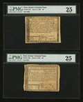 Colonial Notes:New Jersey, New Jersey June 9, 1780 $3 PMG Very Fine 25.. New Jersey June 9,1780 $4 PMG Very Fine 25. ... (Total: 2 notes)