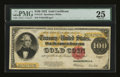 Large Size:Gold Certificates, Fr. 1215 $100 1922 Gold Certificate PMG Very Fine 25....