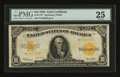 Large Size:Gold Certificates, Fr. 1173 $10 1922 Gold Certificate Star Note PMG Very Fine 25....