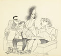 Mainstream Illustration, ALBERT HIRSCHFELD (American, 1903-2003). Everything in theGarden, Sunday New York Times Arts and Leisure illustration,...