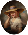 Fine Art - Painting, American:Antique  (Pre 1900), ALBERT FITCH BELLOWS (American, 1829-1883). Portrait of a Girlwith Seashell. Oil on canvas. 26 x 20-1/2 inches (66.0 x ...