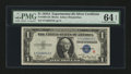 Small Size:Silver Certificates, Fr. 1609 $1 1935A R Silver Certificate. PMG Choice Uncirculated 64 EPQ.. ...