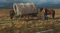 Works on Paper, MARTIN GRELLE (American, b. 1954). New Storm Comin', 1980. Pastel on paper. 16 x 27 inches (40.6 x 68.6 cm). Signed lowe...