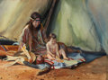 Western:20th Century, WAYNE JUSTUS (American, b. 1952). The Gift of Life. Watercolor on board. 12 x 16 inches (30.5 x 40.6 cm). Signed lower c...