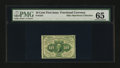 Fractional Currency:First Issue, Fr. 1241 10¢ First Issue PMG Gem Uncirculated 65....