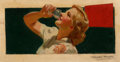 Mainstream Illustration, Attributed to HAYDEN C. HAYDEN (American, b. 1885). Coca-Cola adillustration, preliminary study. Oil on board. 8.5 x 16...