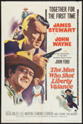 """Movie Posters:Western, The Man Who Shot Liberty Valance (Paramount, 1962). One Sheet (27""""X 41""""). Western.. ..."""