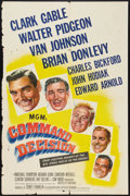 "Movie Posters:War, Command Decision (MGM, 1948). One Sheet (27"" X 41""). War.. ..."