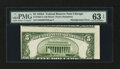 Error Notes:Skewed Reverse Printing, Fr. 1962-G $5 1950A Federal Reserve Note. PMG Choice Uncirculated63 EPQ.. ...