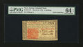 Colonial Notes:New Jersey, New Jersey March 25, 1776 3s PMG Choice Uncirculated 64 EPQ....