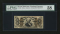 Fractional Currency:Third Issue, Fr. 1329 50¢ Third Issue Spinner PMG Choice About Unc 58....