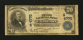 National Bank Notes:West Virginia, Ceredo, WV - $20 1902 Plain Back Fr. 654 The First NB Ch. #(S)4775. ...