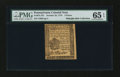 Colonial Notes:Pennsylvania, Pennsylvania October 25, 1775 3d PMG Gem Uncirculated 65 EPQ....