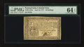 Colonial Notes:Pennsylvania, Pennsylvania April 10, 1777 20s PMG Choice Uncirculated 64 EPQ....