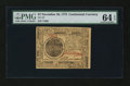 Colonial Notes:Continental Congress Issues, Continental Currency November 29, 1775 $7 PMG Choice Uncirculated64 EPQ....