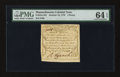 Colonial Notes:Massachusetts, Massachusetts October 16, 1778 3d PMG Choice Uncirculated 64EPQ....