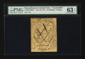 Colonial Notes:Massachusetts, Massachusetts June 18, 1776 24s Contemporary Counterfeit PMG ChoiceUncirculated 63 EPQ....