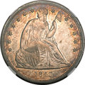 Seated Dollars, 1843 $1 MS64 NGC....