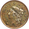 Proof Large Cents, 1837 1C PR63 Brown ANACS....