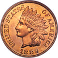Proof Indian Cents, 1889 1C PR66 Red PCGS....