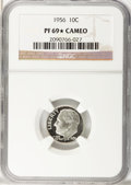 Proof Roosevelt Dimes, 1956 10C PF69 ★ Cameo NGC. NGC Census: (54/0). PCGS Population(10/0). Numismedia Wsl...