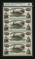Canadian Currency: , Windsor, NS- Commercial Bank of Windsor $20-$20-$20-$20 Ch.195-10-02S Uncut Specimen Sheet. ...